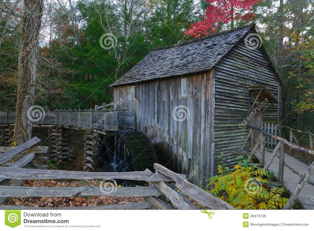 Cades Cove Waterwheel And Mill Royalty Free Stock Image   Image