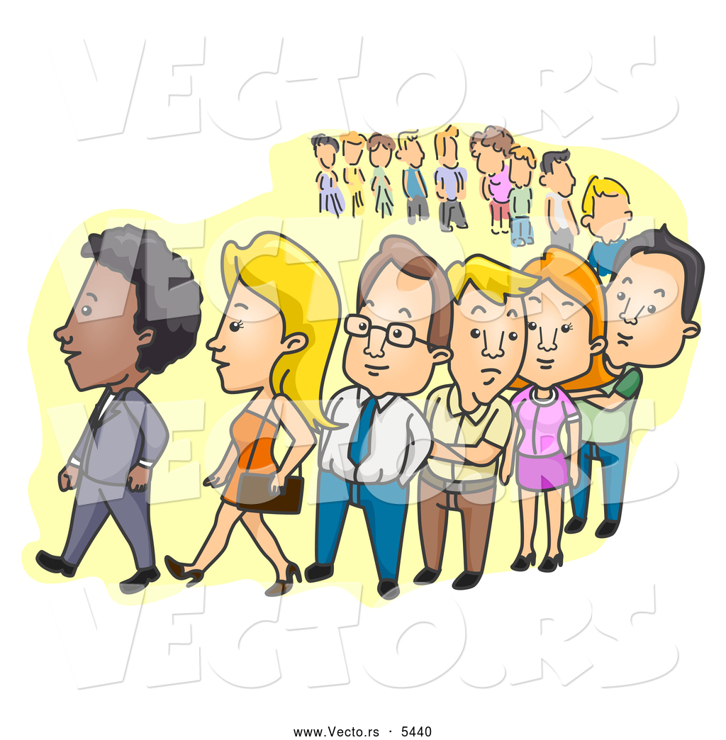 Waiting In Line Clipart - Clipart Suggest