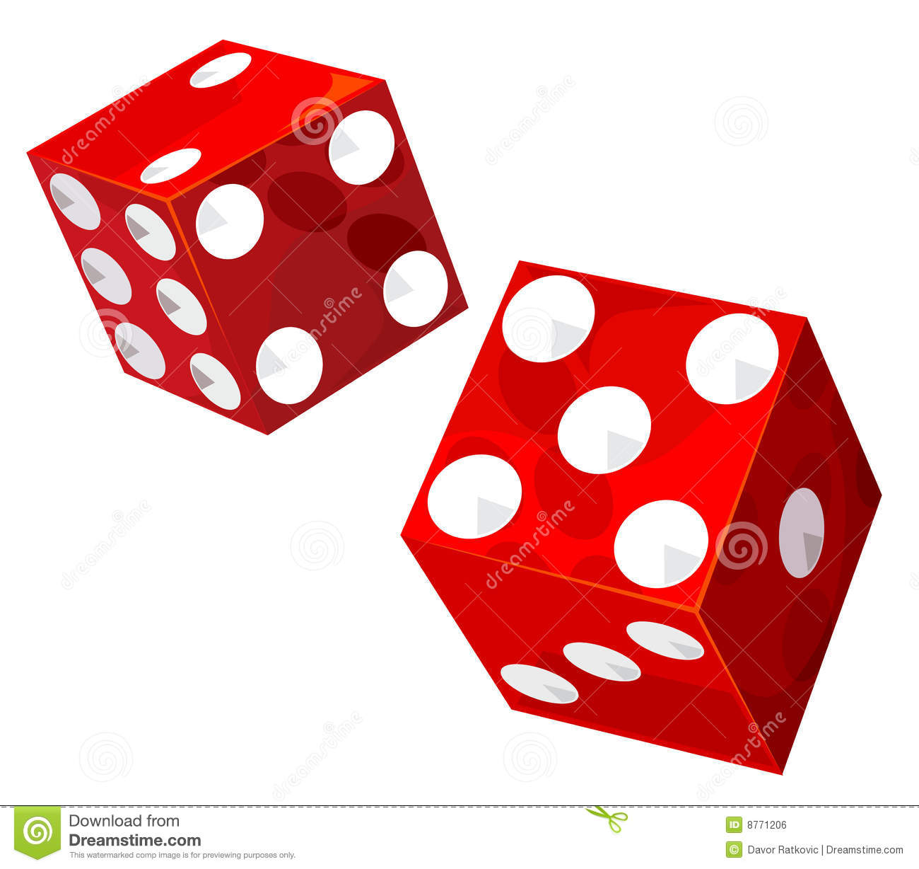 Casino Transparent Dice  Vector Illustration Without Gradients And