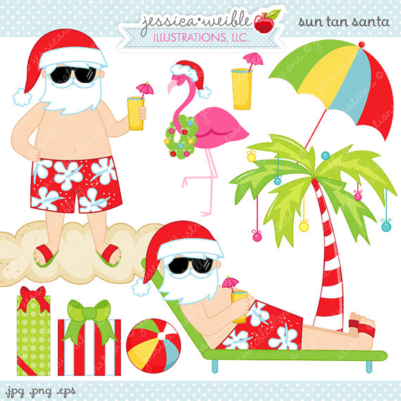 Beach Christmas Clipart - Clipart Kid