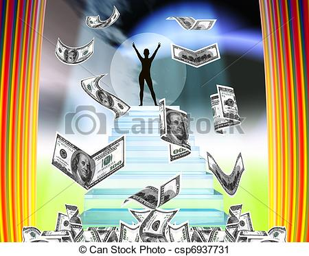 Clipart Of Dreams   Dreaming Of Becoming Rich Or A Famous Movie Star