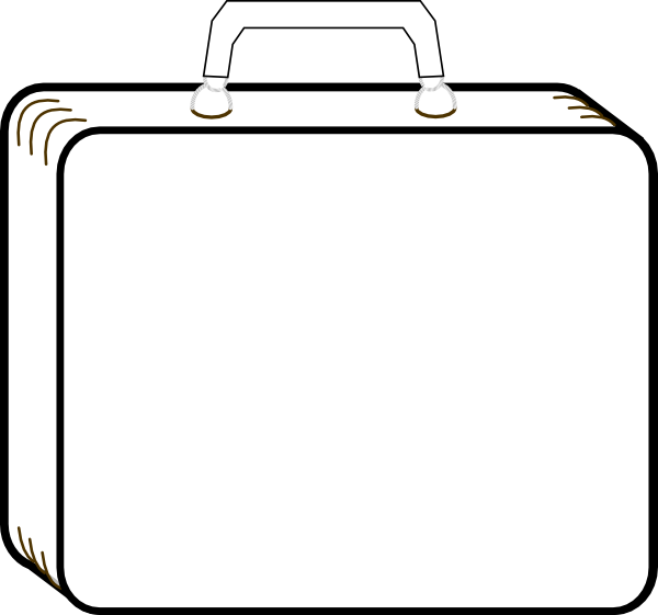 Colorless Suitcase Clip Art At Clker Com   Vector Clip Art Online