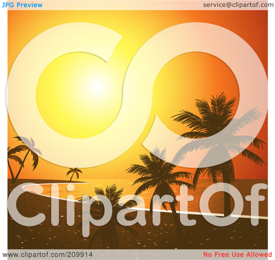 Description From Tropical Sunset Clipart 209912 By Elaine Barker