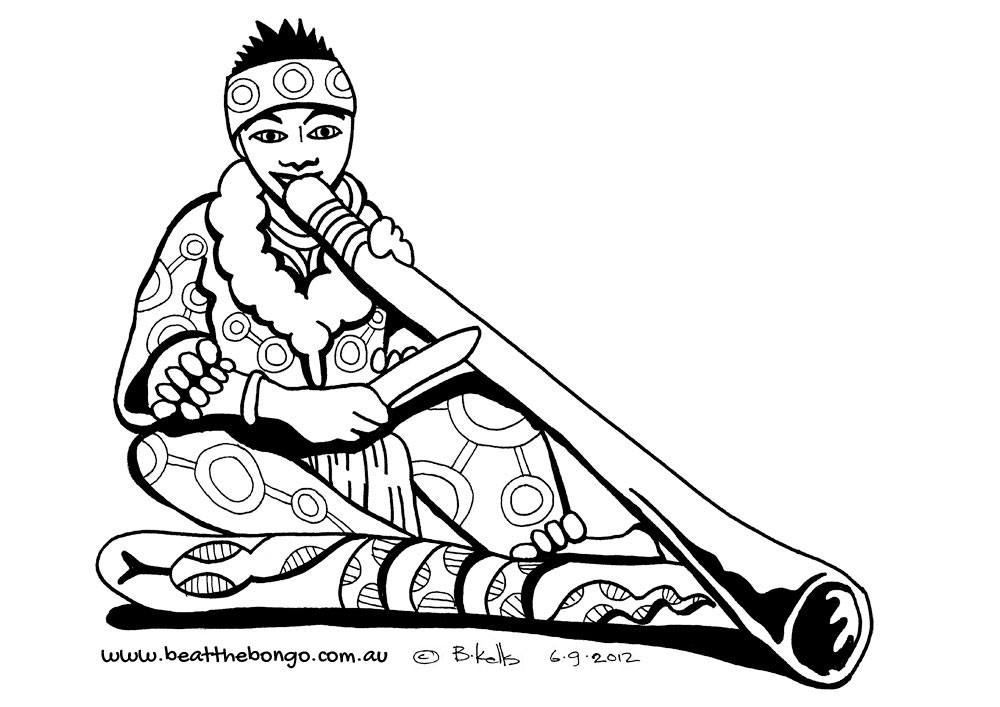 Didgeridoo Colouring Pages  Page 2