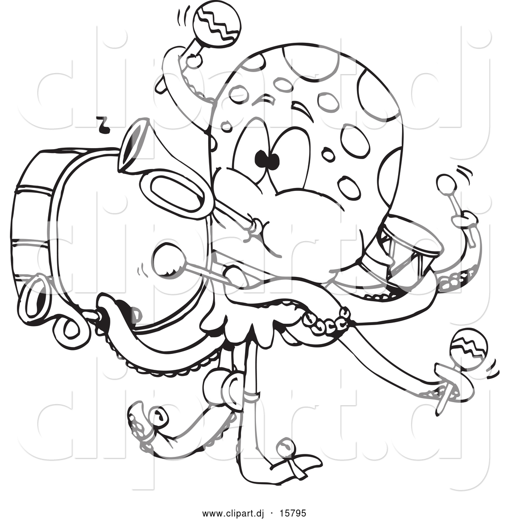 Drummer Coloring Pages Hippie Bongo Drum Player Page For Your Student