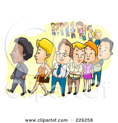 Standing In Line Clipart - Clipart Kid