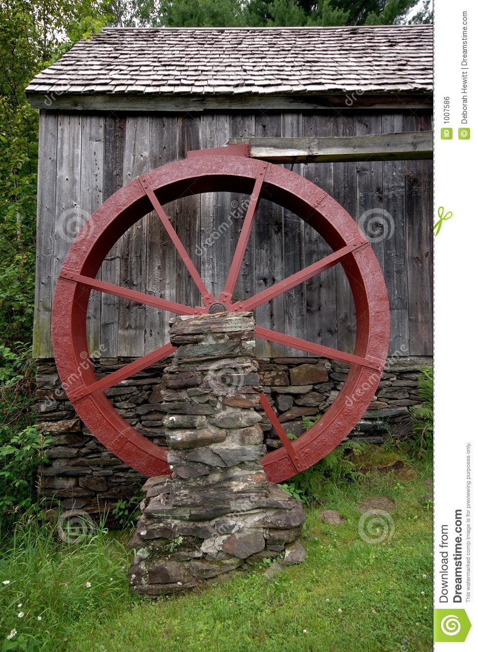 Grist Mill Water Wheel Royalty Free Stock Image   Image  1007586