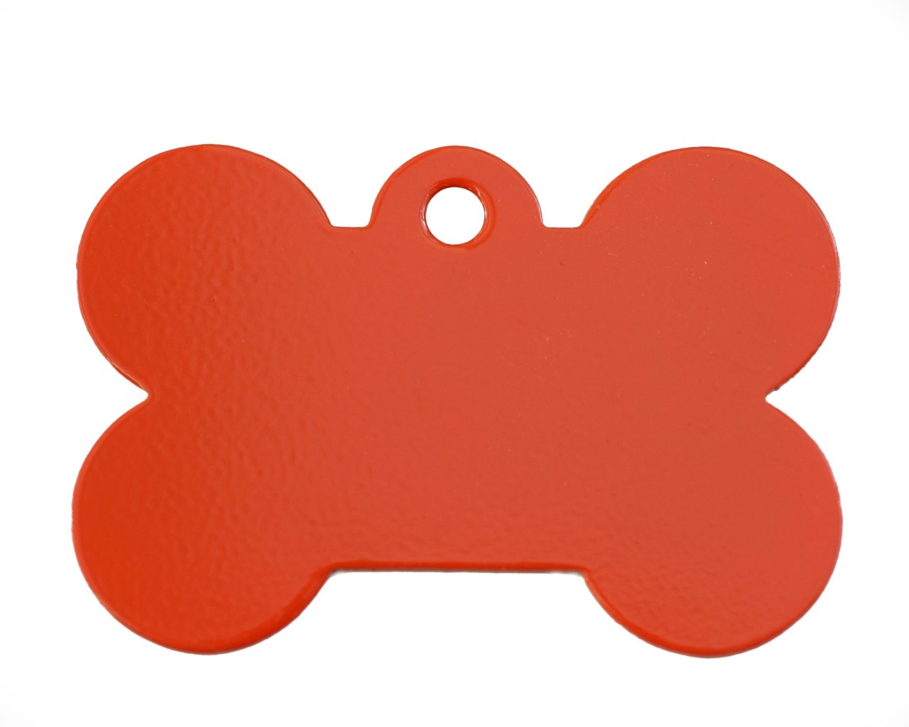 Large Red Bone Dog Id Tag Classic   Happy Dog Days