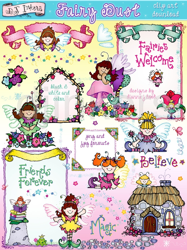 Magical Fairy Clipart From Dj Inkers