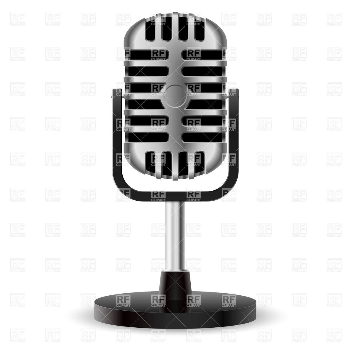 Microphone 8149 Objects Download Royalty Free Vector Clipart  Eps