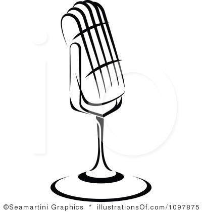 Microphone Clipart Black And White   Clipart Panda   Free Clipart