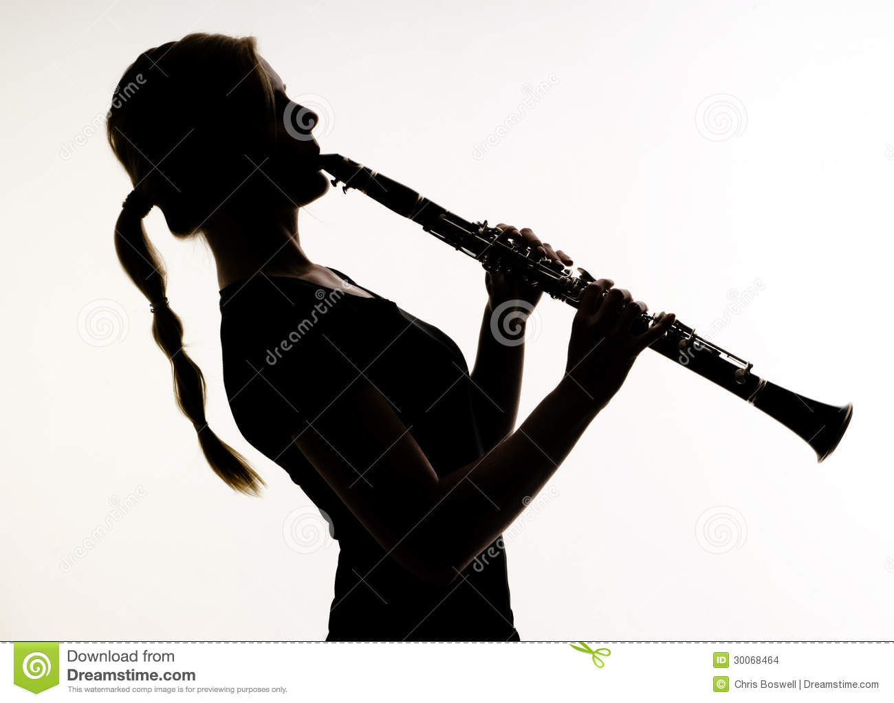 Musician Silhouette Woodwind Clarinet Stock Images Image