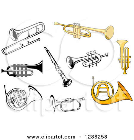 Pin Royalty Free Trumpet Player Clip Art Image Picture 374822 On
