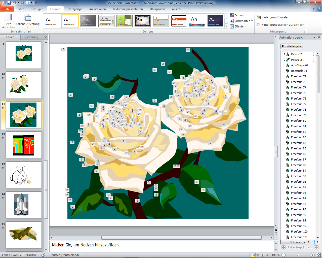 Powerpoint 2010   Clipart Rosen Animiert
