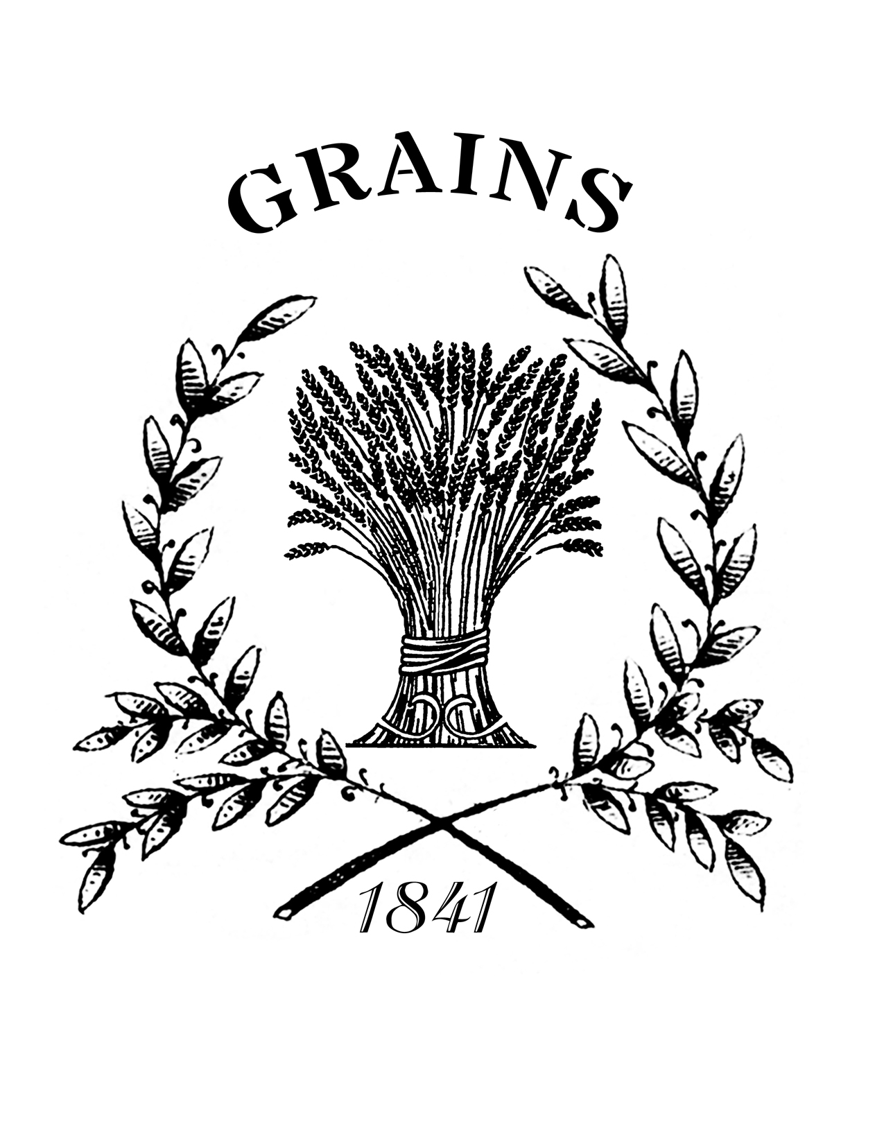 Printable French Grain Sack   Wheat   The Graphics Fairy