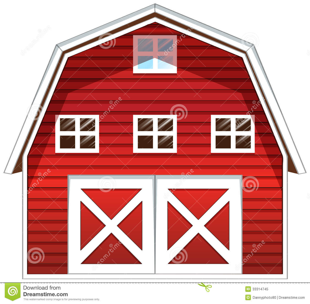 Red Barn House Royalty Free Stock Photo   Image  33314745