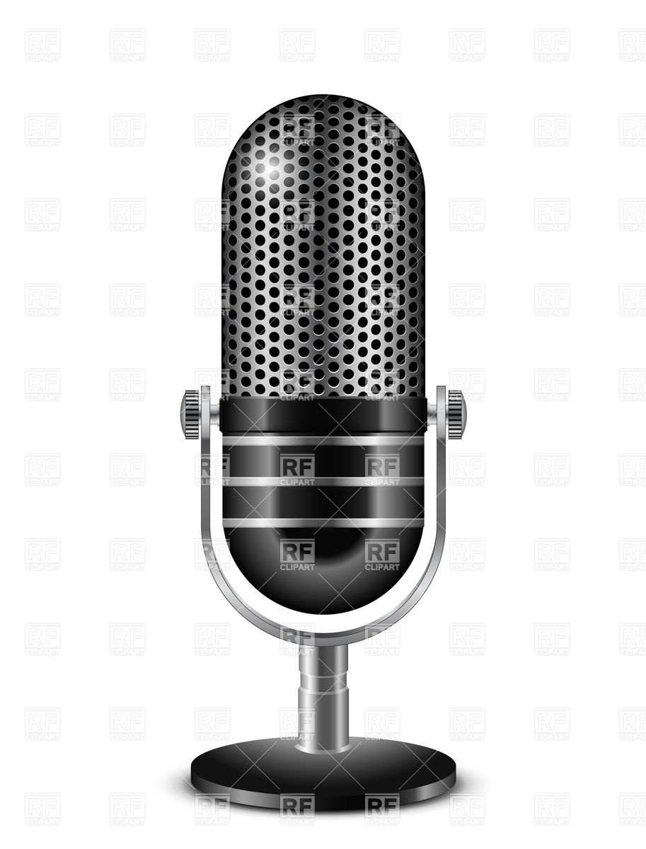 Retro Microphone 5821 Objects Download Royalty Free Vector Clipart