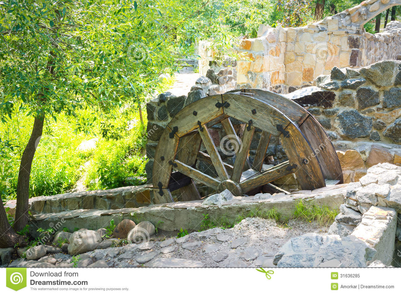 Royalty Free Stock Photo  Waterwheel
