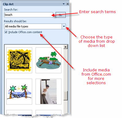 Search For Powerpoint 2010 Clip Art