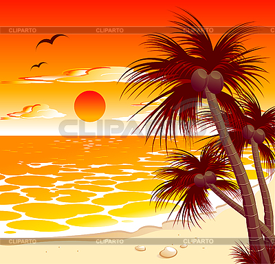 Sunset   Stock Photos And Vektor Eps Clipart   Cliparto