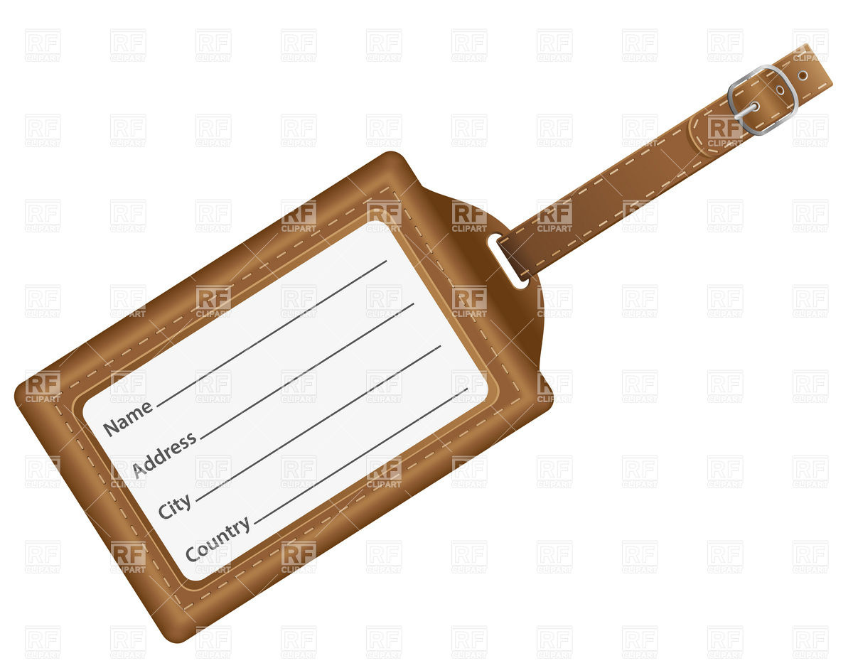 Tag With Identification Card Download Royalty Free Vector Clipart