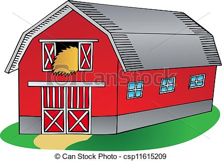 Vector   Barn On White Background   Stock Illustration Royalty Free