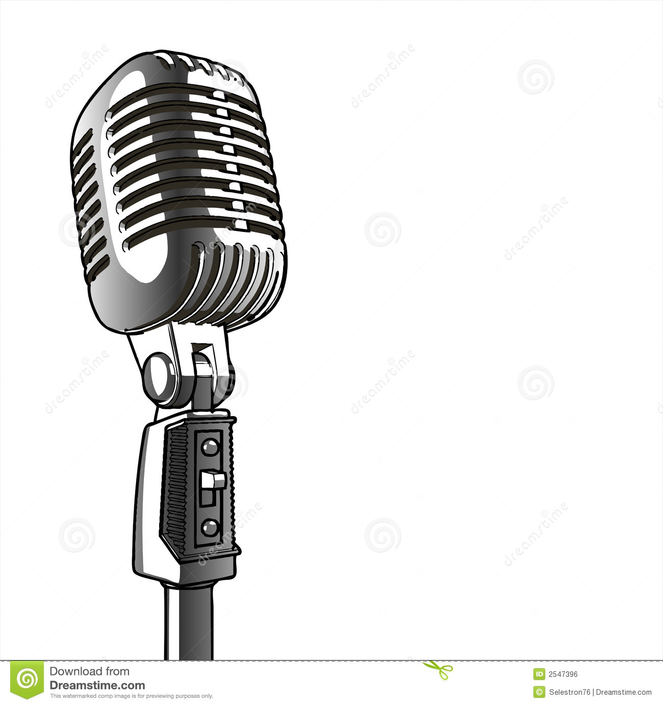Vintage Microphone   Vector Royalty Free Stock Image   Image  2547396