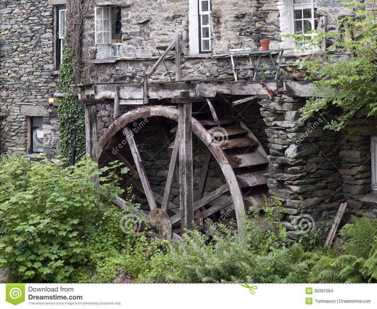 Waterwheel Stock Images   Image  30391094