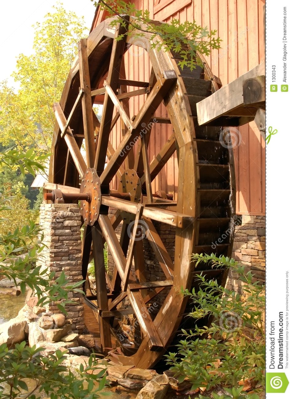 Waterwheel Stock Photos   Image  1300343