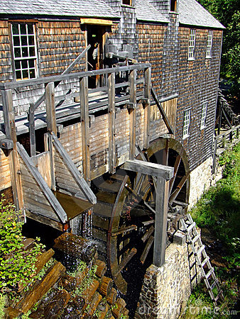 Waterwheel Water Powered Saw Mill Royalty Free Stock Image   Image