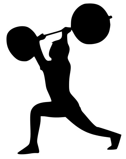Com Recreation Fitness Fitness Silhouettes Fitness Split Jerk Png Html