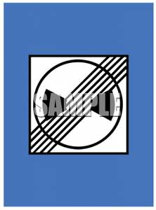 End Of Noise Restriction Zone Road Sign   Royalty Free Clipart Picture