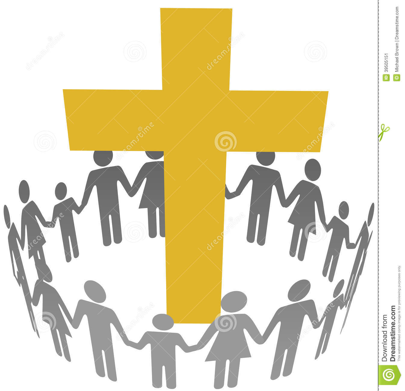 Family Circle Christian Community Cross Stock Vector   Image  39505151