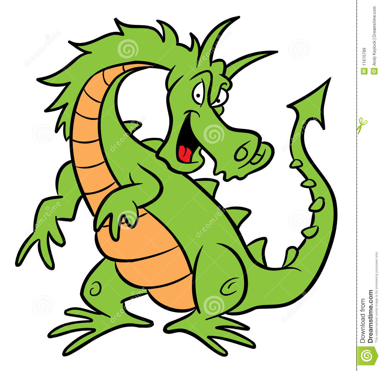 Green Dragon Cartoon Illustration Royalty Free Stock Images   Image