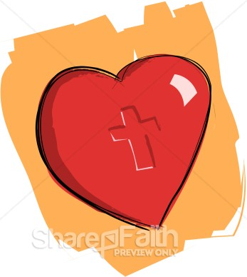 Christian Heart Clipart - Clipart Kid
