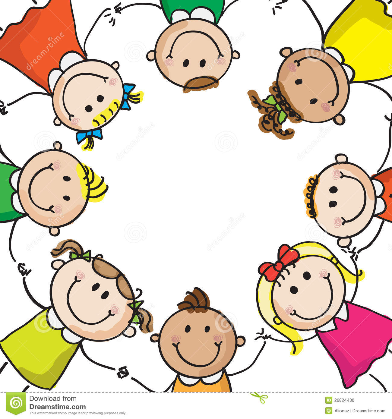 Circle Of Hands Clipart - Clipart Kid