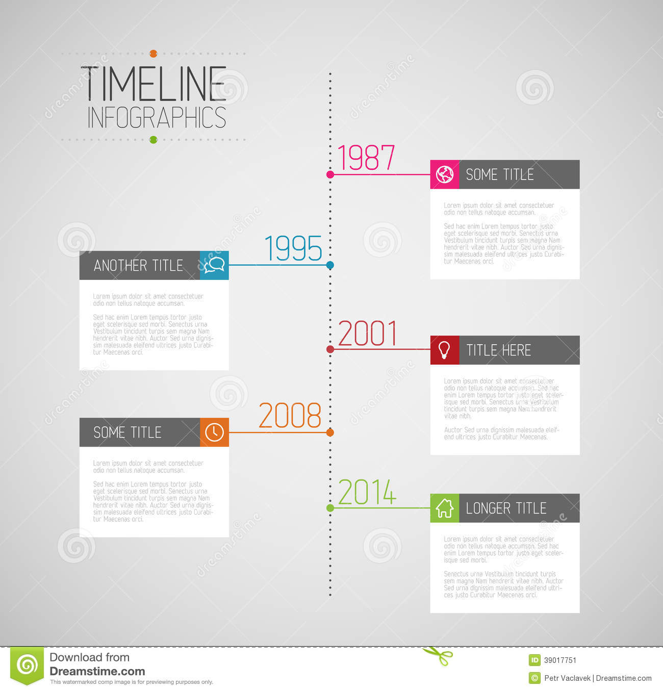 Infographic Timeline Report Template Stock Vector   Image  39017751