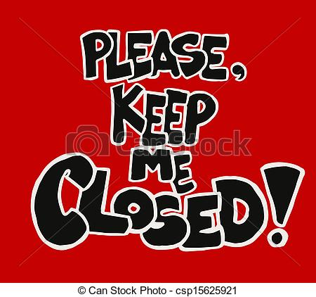 Keep Door Closed Sign Clipart   Free Clip Art Images