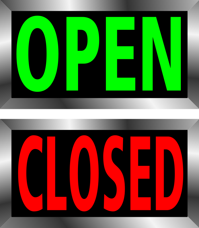Open And Closed Signs By Jhnri4   Open And Closed Signs With Metal