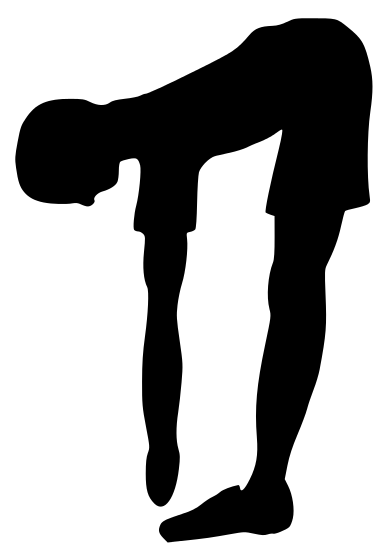 Recreation Fitness Fitness Silhouettes Fitness Stretch Bend Png Html