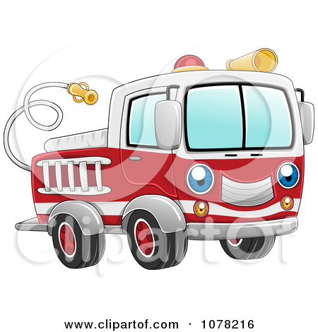 Royalty Free  Rf  Clipart Of Fire Trucks Illustrations Vector