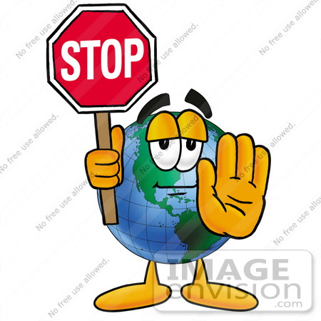Stop Sign    24070 By Toons4biz   Royalty Free Stock Cliparts