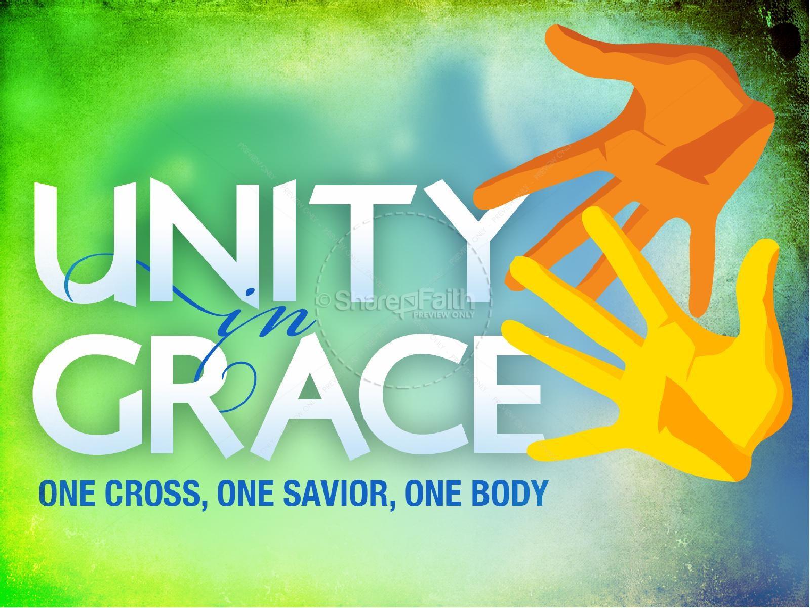Unity In Grace Powerpoint Sermon   Slide 1