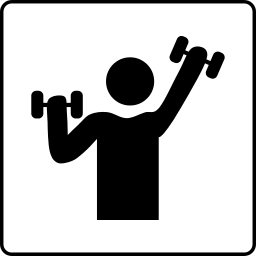 Weight Lifting Icon    Recreation Fitness Weights Weight Lifting Icon