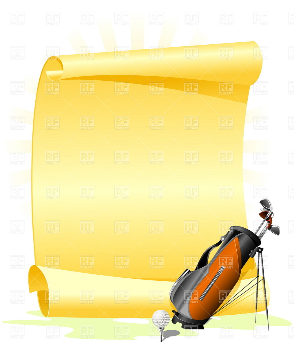 Blank Golf Invitation With Golf Bag And Ball 4806 Borders And Frames