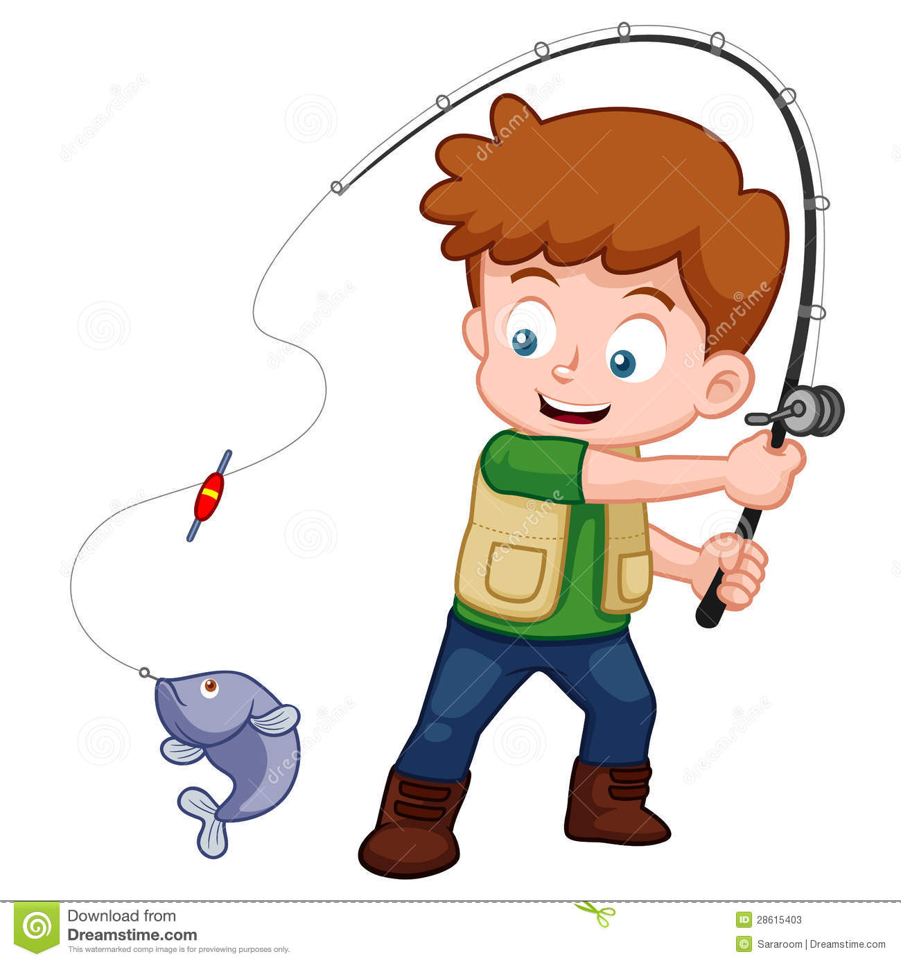 Boy Fishing Clipart - Clipart Suggest