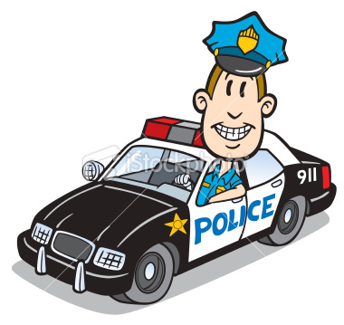 Cartoon Police And Car   Eudunda Net