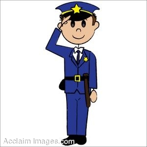 Clip Art Of A Stick Figure Policeman
