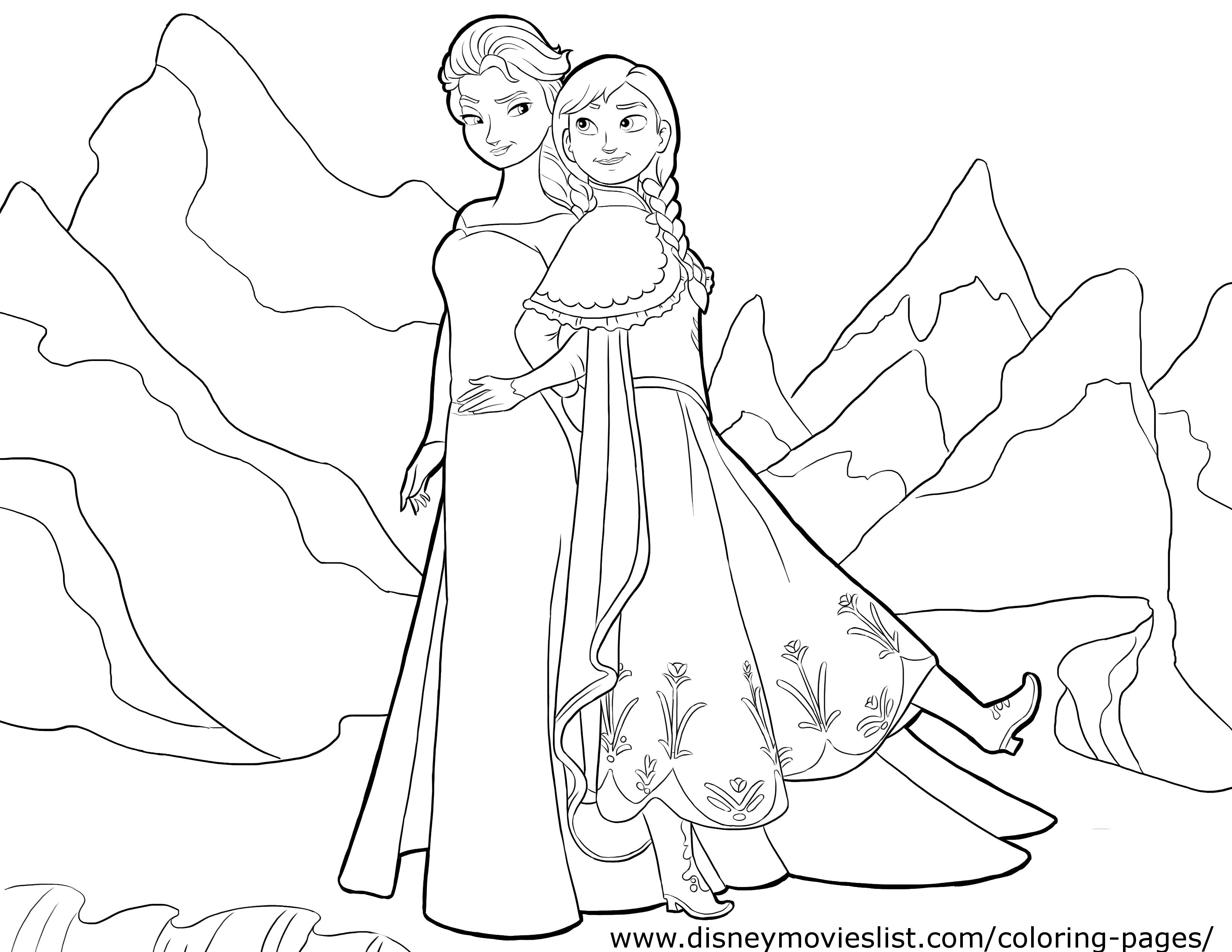 Disney S Frozen Coloring Pages Sheet Free Disney Printable Frozen