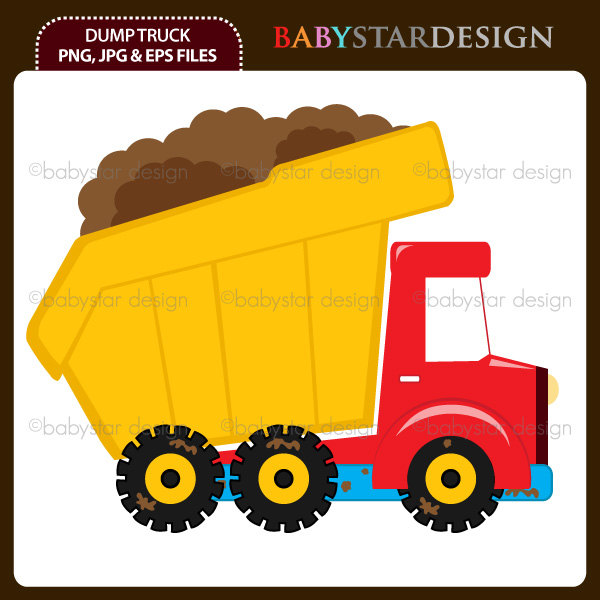 Dump Truck Clipart Single Instant Download By Babystardesign